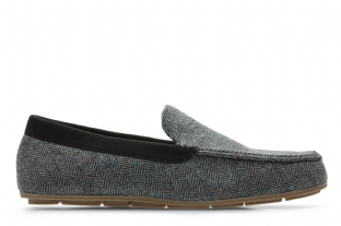 Clarks Mens Interior Cheer Grey Slippers